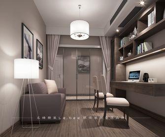 140平米四室两厅现代简约风格书房橱柜设计图