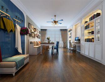 130平米三室一厅田园风格储藏室装修图片大全