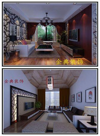 3-5万60平米公寓中式风格客厅装修案例