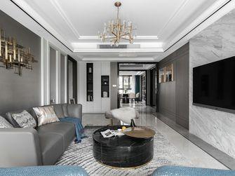 130平米三室一厅现代简约风格客厅图片