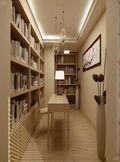 120平米三室两厅日式风格书房橱柜欣赏图