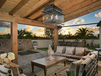 140平米别墅地中海风格阳光房图