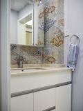 80平米现代简约风格卫生间浴室柜装修效果图