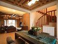 富裕型140平米别墅东南亚风格楼梯装修效果图