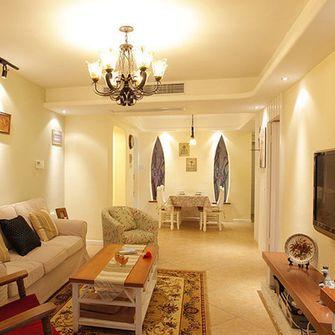 110平米三室一厅田园风格客厅欣赏图