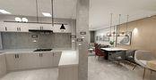 120平米公寓现代简约风格厨房设计图