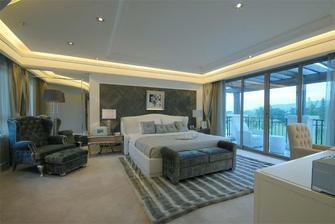 110平米三室两厅欧式风格卧室背景墙图片大全