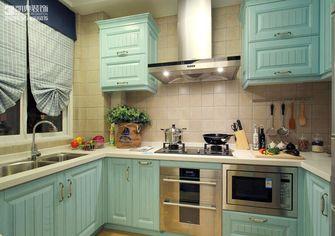 100平米三室两厅地中海风格厨房橱柜图片