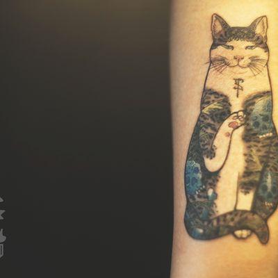 山口猫3纹身图