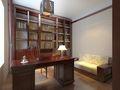 富裕型30平米以下超小户型新古典风格书房欣赏图