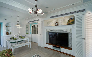 60平米一居室田园风格客厅设计图