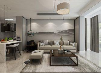 80平米中式风格客厅图