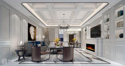 140平米别墅混搭风格客厅设计图