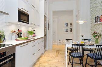 80平米现代简约风格厨房橱柜图