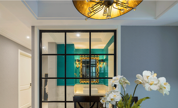 90平米三室两厅田园风格厨房装修效果图