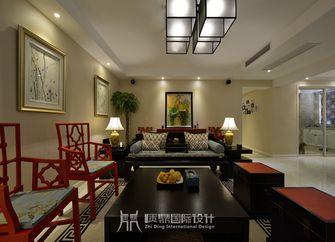 富裕型100平米三室两厅中式风格客厅装修效果图