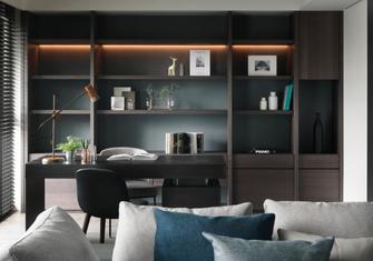 140平米三室三厅地中海风格书房设计图