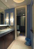 140平米三室两厅地中海风格卫生间图片大全
