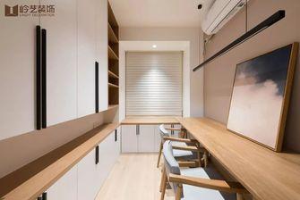 80平米三室两厅日式风格书房图