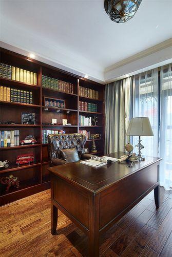 80平米三室一厅田园风格书房图片大全