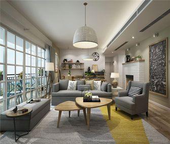 80平米现代简约风格客厅沙发设计图