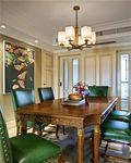70平米三室一厅田园风格餐厅装修效果图