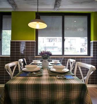 130平米三室一厅田园风格餐厅装修效果图