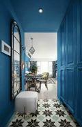 110平米三室两厅东南亚风格走廊装修效果图