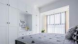 80平米混搭风格卧室图片