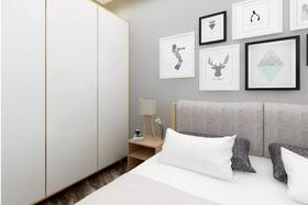 80平米現代簡約風格臥室圖片