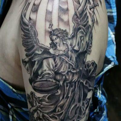 大天使圣迈克纹身图