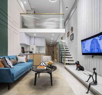 70平米混搭风格客厅设计图