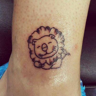 小狮子纹身款式图