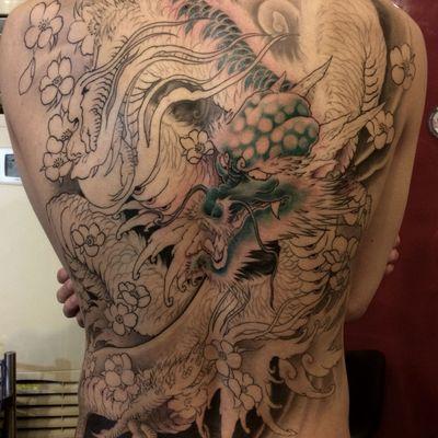 满背纹身款式图