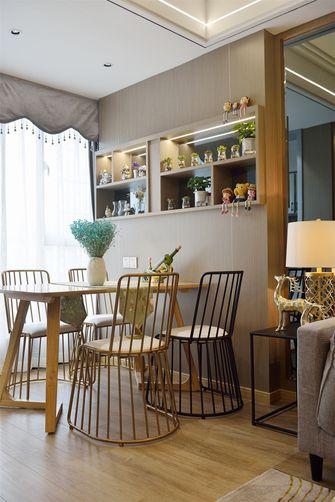 60平米一居室美式风格餐厅效果图