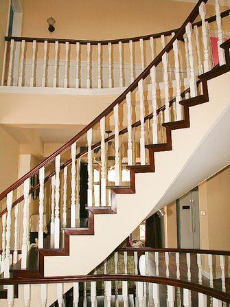 140平米四室三厅美式风格楼梯间欣赏图
