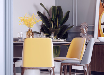 100平米公寓美式风格餐厅装修案例