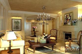 140平米三室两厅新古典风格客厅图