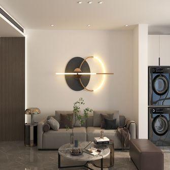 100平米三室一厅混搭风格客厅效果图
