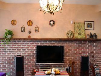 120平米三室一厅美式风格客厅图片