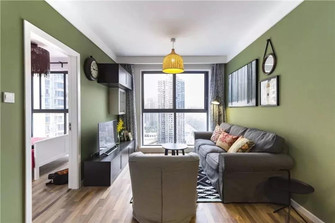 80平米三室两厅田园风格客厅装修图片大全