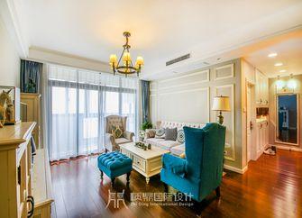 富裕型100平米三室两厅美式风格客厅图片大全