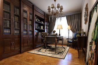 80平米一居室中式风格书房图片大全