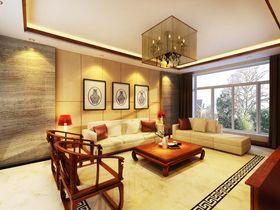 经济型100平米三室一厅中式风格客厅装修案例