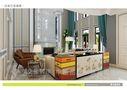 豪华型140平米别墅混搭风格客厅家具图