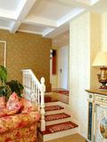 经济型120平米三室一厅田园风格楼梯效果图