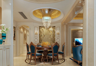 140平米四室三厅欧式风格餐厅效果图