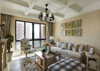 120平米三室两厅田园风格客厅效果图