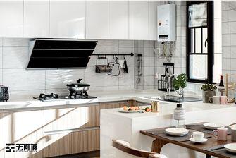 140平米三室一厅北欧风格厨房图