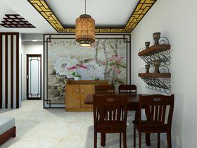 富裕型80平米三室一厅中式风格餐厅装修案例